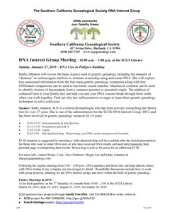 SCGS: DNA Interest Group